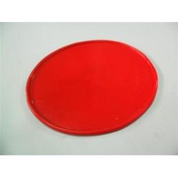 Portanumeros Oval Rojo 28x23