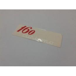 Adhesivo OSSA 160 Turismo Rojo-Blanco