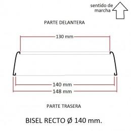 Cerquillo bisel de faro RECTO Ø 140 mm.