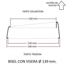 Cerquillo bisel de faro VISERA Ø 139 mm.