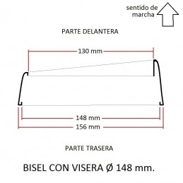 Cerquillo bisel de faro VISERA Ø 148 mm.