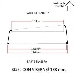 Cerquillo bisel de faro VISERA Ø 168 mm.