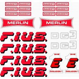 Juego Adhesivos Merlin Fius