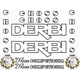 Juego Adhesivos Derbi Cross 74