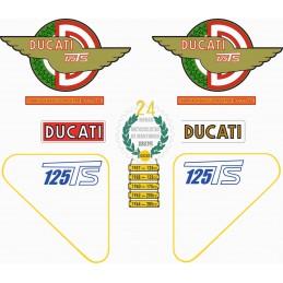 Juego Adhesivos Ducati 125 TS