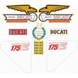 Juego Adhesivos Ducati 175 TS
