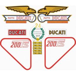 Juego Adhesivos Ducati 200 TS